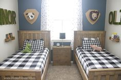 Ideas for a Shared BOYS Bedroom (...yay, all done!!) | Make It and Love It