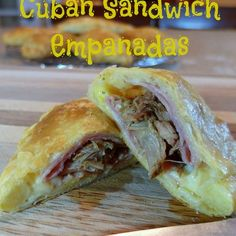 Cuban Sandwich Empanadas are genius mash-up of Cuban Sandwich fixings baked into a light and flaky empanada. Dan Whalen, my hat is off to you on this one!