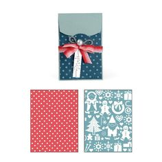 Sizzix Bigz XL w/Bonus Textured Impressions Embossing Folders - Gift Card Holder and Snow Village Set. The envelope gift card holder can be used all year long for your gift giving and it's just $28 for all three pieces.