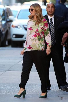 Drew Barrymore in Ted Baker blouse