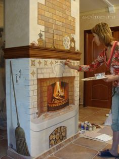 Fireplace Wall, Reading Room, 3d Wall, Wall Murals, Painted Furniture, House Design, Flooring, Wallpaper, Wall Paintings