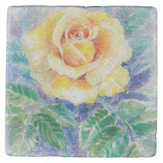 Rose 2 stone coaster