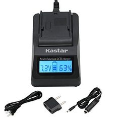 Kastar Ultra Fast Charger(3X faster) Kit for NP-BY1, EN-EL11, LI-60B, DLI-78, DB-L70, DB-80, BC-CSY, LI-60C, MH-64 work with Sony Action Cam Mini HDR-AZ1, Nikon Coolpix S550, S560, Olympus FE-370, Pentax Optio L50, M50, M60, S1, V20, W60, W80, Ricoh