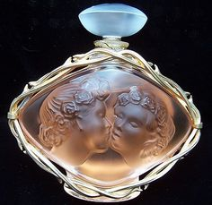 You are viewing a rare limited of Lalique Le Baiser perfume in the large ounce size. The unopened, unused bottle measures approximately 5 by and retains the gold filled st Lalique Perfume Bottle, Antique Perfume Bottles, Vintage Bottles, Perfumes Vintage, Beautiful Perfume, Glass Bottles, Glass Vase, Vases, Just For You