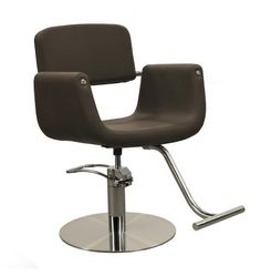 Corsa Styling Chair in Bark-Low Profile Round