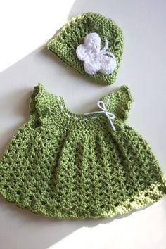 Free Crochet Set Pattern - Everything For Babies Baby Set, Häkelanleitung Baby, Baby Girls, Baby Girl Crochet, Crochet Baby Clothes, Crochet For Kids, Crochet Dresses, Crochet Children, Crochet Crafts