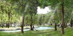 3000 trees for Alcala | Alcala Spain | LINT landscape architecture - canal - water - trees - park - conceptual