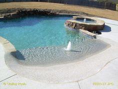 Beach Entry   Custom Swimming Pools   Claffey Pools