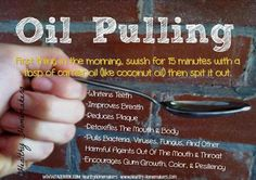 Natural Cures Not Medicine: Oil Pulling To Prevent And Treat Damage To Teeth