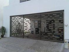 Portones de herrería sencillos Door Gate Design, Fence Design, Iron Gates, Iron Doors, Tor Design, House Design, Grill Gate, Balcony Grill, Fence Doors