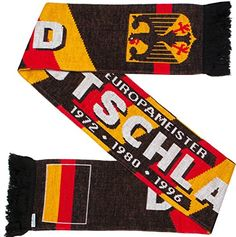 Germany Deutschland Soccer Knit Scarf Authentic Germany soccer double-sided knit scarf Very soft to touch and fashionable Classic design with contemporary features long by wide World and European Championships listed