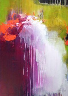 Original pintura abstracta grande arte moderno por ARTbyKirsten