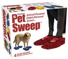 Todd Lawson's latest invention, the Pet Sweep, which will your pets cleaning the house independently. Lawson's animal-powered debris removal system will keep your home tidy & your pets busy. Here's yo