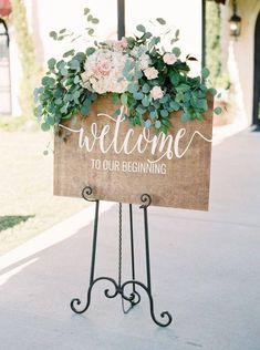 SALE Welcome to our beginning sign Wedding welcome sign