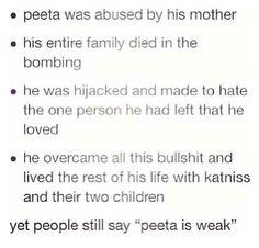 This is so true everyone I know doesn't like peeta