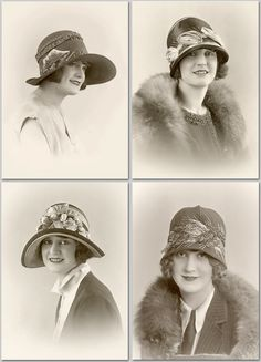 1920s Hat Fashion Millinery Flappers Lot of 4 Photos   eBay