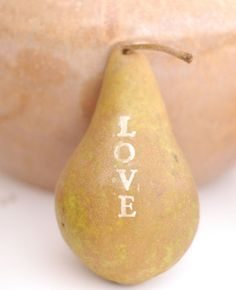 I so adore Pears ! glitter-stamped fruit.