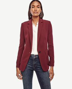 Image of Petite Refined One Button Blazer
