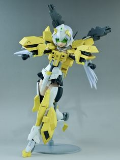 Custom Build: HGBF 1/144 すーぱーふOな Powered GM Cardigan + Frame Arms Girl Stiletto - Gundam Kits Collection News and Reviews