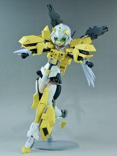 Custom Build: HGBF 1/144 すーぱーふOな Powered GM Cardigan + Frame Arms Girl Stiletto…