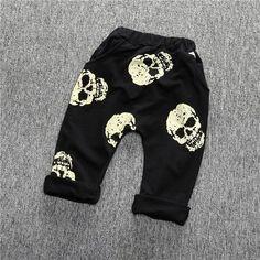 Black Skull Pants