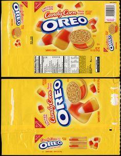 Nabisco - Oreo Candy Corn flavor - Target Exclusive - cookie package - October 2012 by JasonLiebig, via Flickr