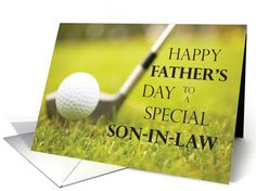 Happy Father's Day to a Special Son-in-Law card (188507)