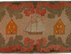 New England Folk Art rug, $1800