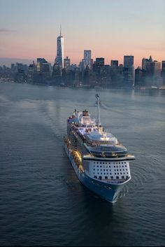 "The Third largest Cruise Ship ""Quantum of the Seas"" was in New York Harbor November 11 2014 168,666 gross tonnage, 1,152 feet long"