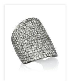 ARTISAN  Sterling silver pavé diamond ring