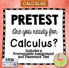 Are you back to school read? You'll love this first week activity for you Calculus students. a pre-requisite assignemnt, plus a Pre-Test for Calculus rediness. Sure to be a time-saver. Math Teacher, Math Classroom, Teaching Math, Teacher Stuff, Maths, Teaching Ideas, Classroom Ideas, Future Classroom, Learning Activities