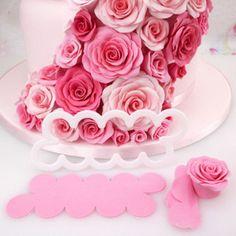 The Easiest Rose Ever DIY Tool Rose Cutters Beauty Floral Cake Model 1PC #FMMSugarcraftProductsLtd