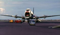 Car ferry flights using the Carvair - via PJ de Jong Cargo Aircraft, Cargo Airlines, Air Space, Going Out Of Business, Civil Aviation, Photo Search, Fighter Jets, Cool Photos, British