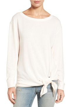 Hinge Tie Front Fleece Top available at #Nordstrom