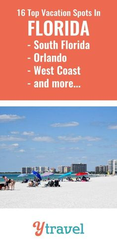 Florida Best Cities to visit with Kids. Here are 16 of the best Florida vacations spots. Don't plan a trip to the Sunshine State before reading these Florida travel tips. This travel guide includes ideas for some of the best Florida vacation destinations, for the ultimate beach or theme park vacation experience.  There is so much more than beaches and Disney, though, with tons of things to do with kids, great restaurants to try, hikes, activities with kids, and more. #Florida #travel #vacation Best Places In Florida, Florida Vacation Spots, Visit Florida, Florida Travel, Vacation Destinations, Travel Usa, Travel Tips, Vacations, Italy Vacation
