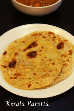 Parotta recipe, a south indian flat bread made using all purpose flour which is made as a chapathi and roasted on tawa.  #parotta #malabarparotta #keralaparotta #parottarecipe #breakfastideas #flatbread #breadrecipes #noyeast #paratha