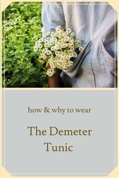 The Demeter Tunic is a versatile, breezy, organic and sustainable garment. With its blend of sustainable hemp, organic linen and hard-working design, our Demeter Tunic is one that Lady Farmers everywhere can't stop reaching for. Farm Gardens, Slow Fashion, Farmers, Hemp, Sustainability, Tunic, Victoria, Organic, Lady