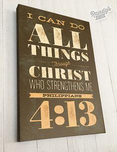 Custom Scripture Wall Art, Bible Verse, Canvas Art, Philippians 4:13, Christian Art Decor