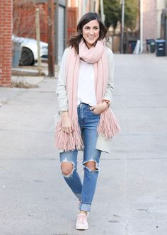 Blush Sneakers - Blush Scarf - Cobalt Chronicles @cobaltchronicle