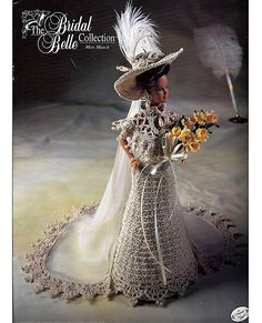 The Bridal Belle Collection Miss March Fashion Doll Crochet Pattern Annies Attic via Etsy