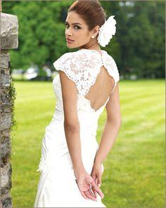 Как сшить платье с кружевной спиной