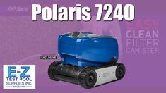 The Polaris 7240 Sport is a new Robotic Pool Cleaner by Zodiac designed for small to medium pools. Features include: Cyclonic Vacuum Technology- Captures debris without losing suction, Navigates Floors and Climbs Walls- For full pool coverage and a thorough clean, Lightweight Handling - Compact design is easy to carry. Easy Clean Filter Canister with Transparent Lid - Simply remove, unlatch, shake and spray. Cleaning Above Ground Pool, Above Ground Pool Vacuum, Best Above Ground Pool, In Ground Pools, Pool Cleaning, Deep Cleaning, Best Robotic Pool Cleaner, Polaris Pool Cleaner, Pool Supplies