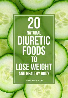 Diuretic foods intensify the extraction of unwanted water content from the body.These foods could help you to scorch the ugly fat in the body by draining out the excess water content. Natural Diuretic Foods, Natural Liver Detox, Natural Health, Detox Tips, Detox Recipes, Detox Foods, Health Foods, Gut Health, Crossfit