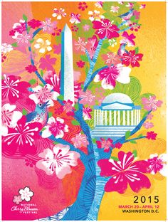 National Cherry Blossom Festival - 2015 National Cherry Blossom Official Poster, $12.00 (http://www.ncbfstore.org/2015-national-cherry-blossom-official-poster/)