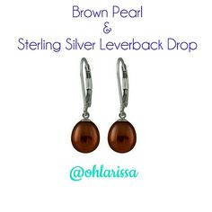 """Brown Pearl & Sterling Silver Channel that classic elegance with these gracefully dangling earrings. These beauties boast timelessness.   - Pearls: 7"""" W x 8 mm H  - Rhodium-plated sterling silver / freshwater pearls Bella Pearl Jewelry Earrings"""
