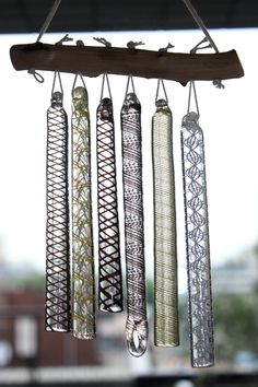 Japanese glass wind chimes.