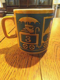Vintage 1973 RARE John Clappison Hornsea Pottery Retro Mug | eBay