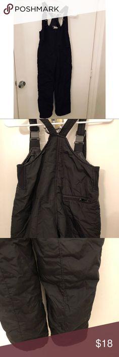 5282c2e05 WFS snow bib overalls kids unisex ski size M Gently used adjustable straps  unisex black snow