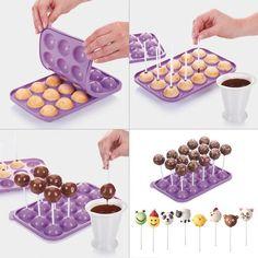 Cake Decorating Techniques, Cake Decorating Tutorials, Fun Baking Recipes, Dessert Recipes, Mini Cakes, Cupcake Cakes, Cake Pop Molds, Ice Cream Cone Cake, Cake Pop Maker