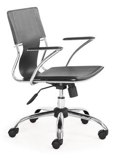 Zuo Modern Trafico Office Chair Trafico Office Chair Black Furniture Seating Office Chairs